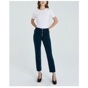 AG The Isabelle Button Up High Rise Black Jeans 28